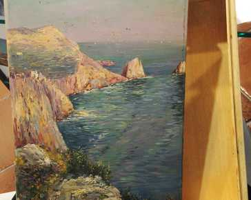 - Capri - L. Caflisch & C painted wooden box