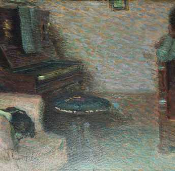 Zolla Venanzio - Interior with Piano